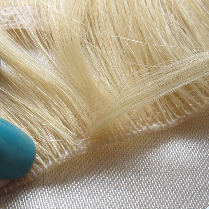 Aliexpress buy 23inch hand tied true skin weft pu100 remy aliexpress buy 23inch hand tied true skin weft pu100 remy human hair european russian 613 hair extensions silky body wave wavy weft tape hair from pmusecretfo Image collections
