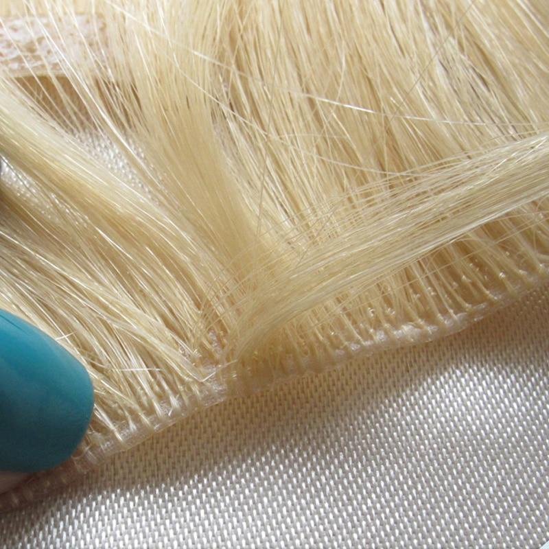 23inch Hand Tied True Skin Weft Pu100 Remy Human Hair European