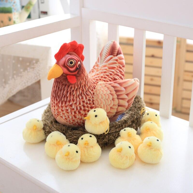 Criativo Novo Presente do Dia de Páscoa de Frango Brinquedo de Pelúcia Super Macio Algodão PP Stuffed Chicken Coop Brinquedos Para As Crianças Presentes do Festival