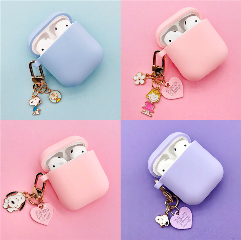 Japan Cute Dog Bluetooth Wireless Headset Silicone Case For Airpods Earphone Protective Shockproof Soft