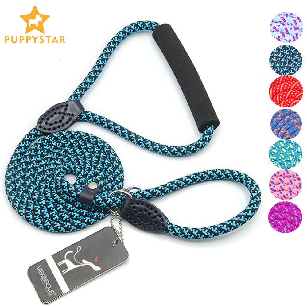 Pet Products Dog Leashes Collar For Large Dogs Pets Leash Dog-Collar Leash Rope Medium Dogs Lead Nylon Training Running PY0244