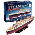 Desarrollo de la inteligencia, juguetes Educativos, de buena calidad, espuma, emulational, los mejores regalos, modelo de nave, modelo de Titanic, 3D ROMPECABEZAS
