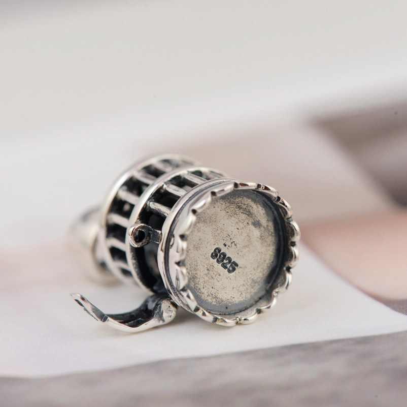 BALMORA 925 เงินสเตอร์ลิงเปิด Cage สำหรับผู้หญิงคนรักแฟชั่นเครื่องประดับอุปกรณ์เสริมโดยไม่มีห่วงโซ่ SY14055