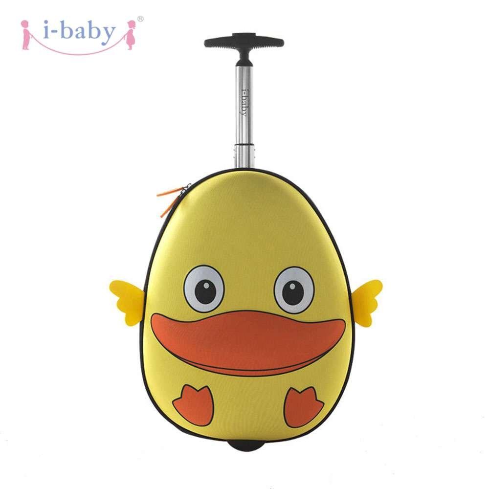 I-baby 3D Animal Design enfants roulant bagages enfant en bas âge voyage Case Cartoon embarquement porter sur des valises, canard, 2 couleurs