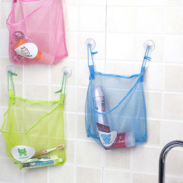 Creative Dual suction cups Hanging Organizers nets bathroom Baby Toy Mesh Storage Bags  kitchen wall & Creative Dual suction cups Hanging Organizers nets bathroom Baby Toy ...