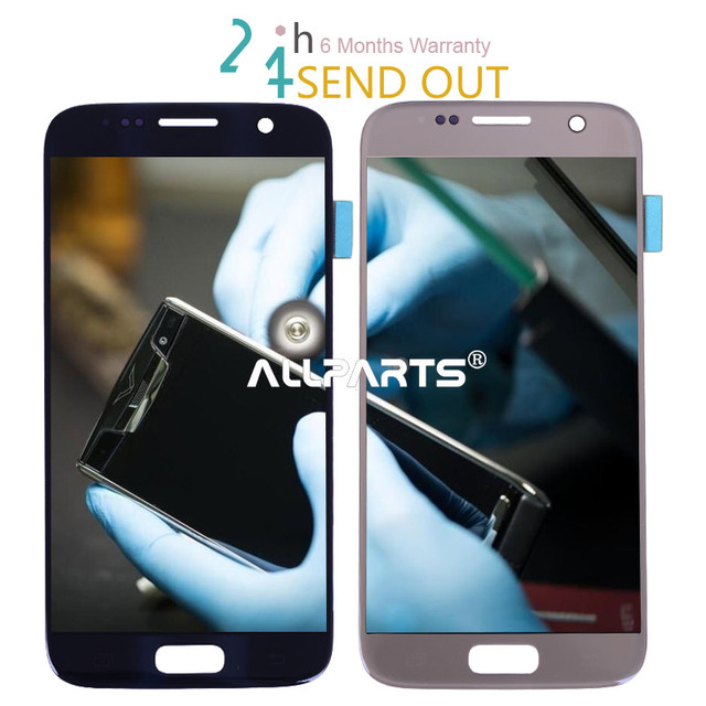 Tested 5.1'' Super AMOLED Screen Display for SAMSUNG Galaxy S7 LCD G930 G930F SM-G930 Touch Screen Display FOR SAMSUNG S7