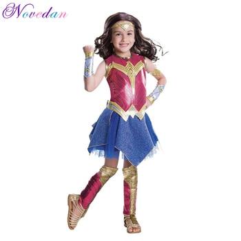 Child Dawn Of Justice Wonder Woman Fancy Dress Cosplay Girls Superman Wonder Woman Supergirl Halloween Costume for Kids цена 2017