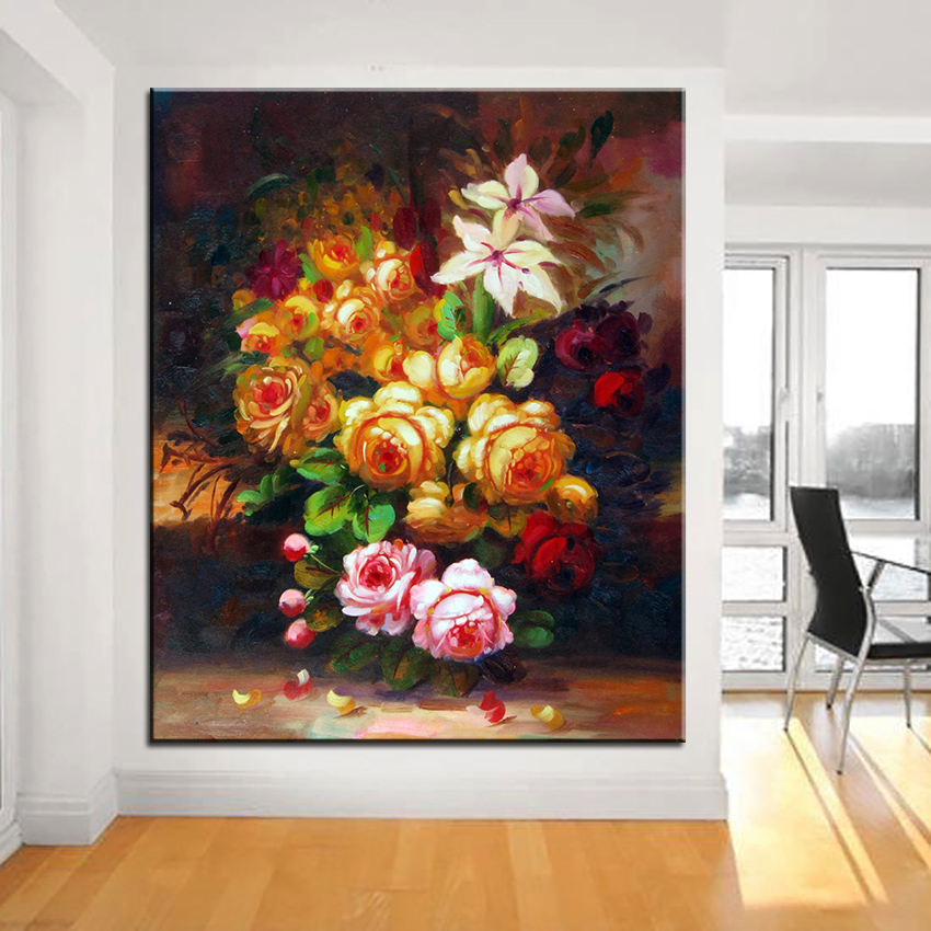 Best DPARTISAN print no-255 flower wall painting Amazing oil painting Color Ideas Your Home wall picture art decor no framed