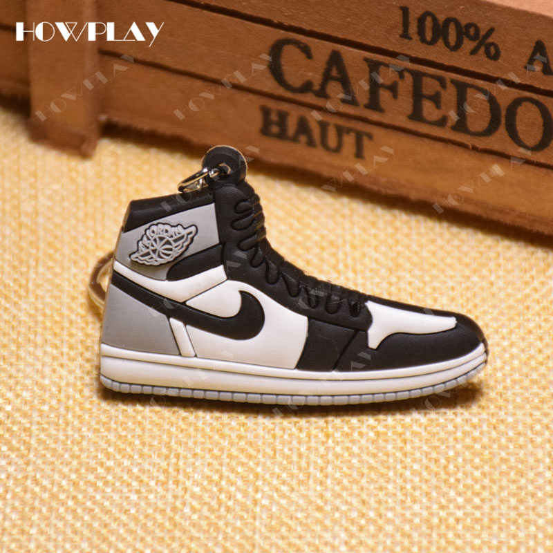 san francisco 77e6f 6f870 ... HowPlay mini sneakers jordan 1 keychains bag charm basketball shoe  model keyring AJ1 backpack pendant key