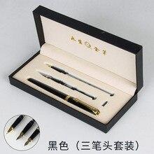وينغسونغ العلامة التجارية قلم حبر معدني الطلاب مكتب القرطاسية الفاخرة اضافية غرامة 0.5 مللي متر/1.0 بنك الاستثمار القومي الخط أقلام الحبر هدية دعوى