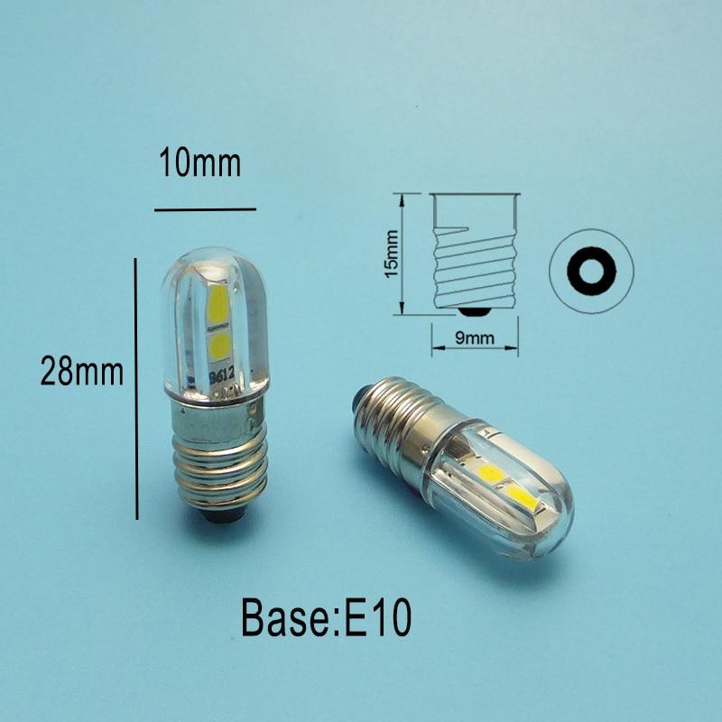 Image 5 - MIDCARS 6V t4w ba9s e10 LED LIndicator light 36V Bulb,H21W BAY9S 12V SMD LEDs/ 48V 24V to 60V Bulb wholesale-in LED Bulbs & Tubes from Lights & Lighting