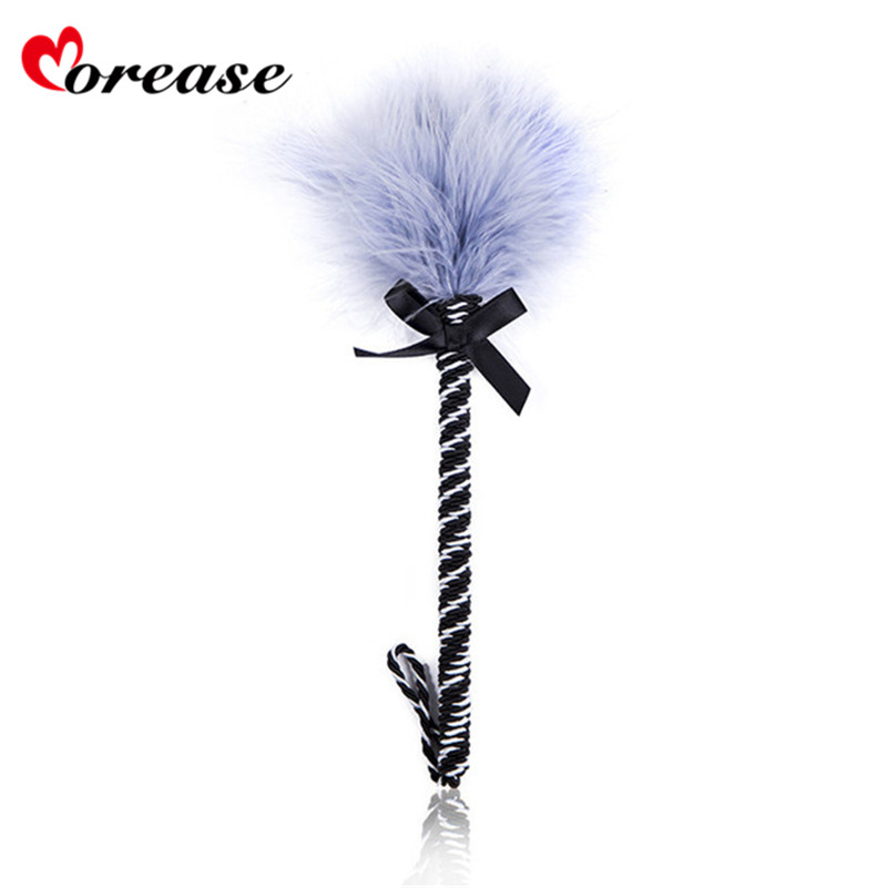 Buy Clit Tickler Feather Whip Sex Toy Spanking Bondage Flogger Erotic Fetish Flirting BDSM Slave Adult Game Couple Morease