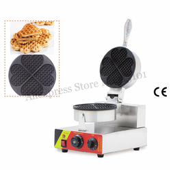 Nonstick Heart-shaped Waffle Maker Commercial Waffle Machine 220V 110V with Thermostat and Timer