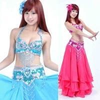Sexy Dancing Belly Dance Costume Set Bra Belt 9 Colors S M L Size More Colors