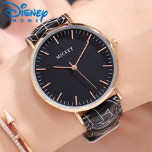 ad91f05998b Mulheres Relógios Famosa Marca Lucury da disney Mickey Mouse Assistir  Mulheres De Couro Simples Moda Relógios