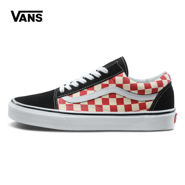 82444857c7e047 Original New Arrival Vans Mens   Womens Classic OLD SKOOL Low-top Skateboarding  Shoes Sneakers Canvas Comfortable VN0A38G135U