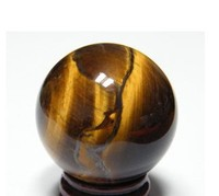 60mm natural Tiger eye quartz CRYSTAL SPHERE FREE SHIPPING