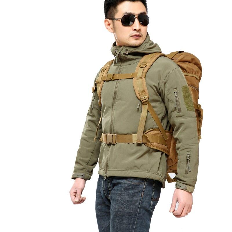 Sac à dos tactique militaire 50L sacs de Camping de grande capacité sac d'alpinisme sac à dos de randonnée pour hommes sac à dos de voyage - 5