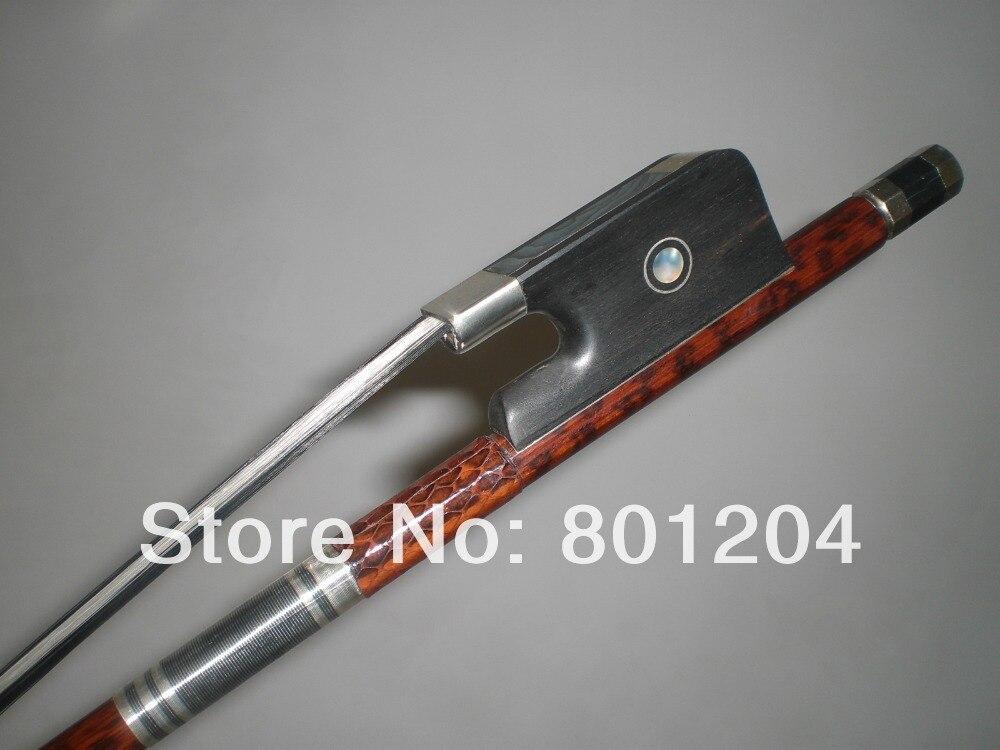 1 PCs High Quality Baroque Double Bass Bow 3/4 Black & White Bow hair 4005# ebony frog 3 pcs 4 4 violin bow baroque ebony straight high quality r3 1
