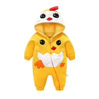 Baby jumpsuit autumn/winter bodysuit thickening autumn/winter crawling suit long sleeved new baby cotton suit