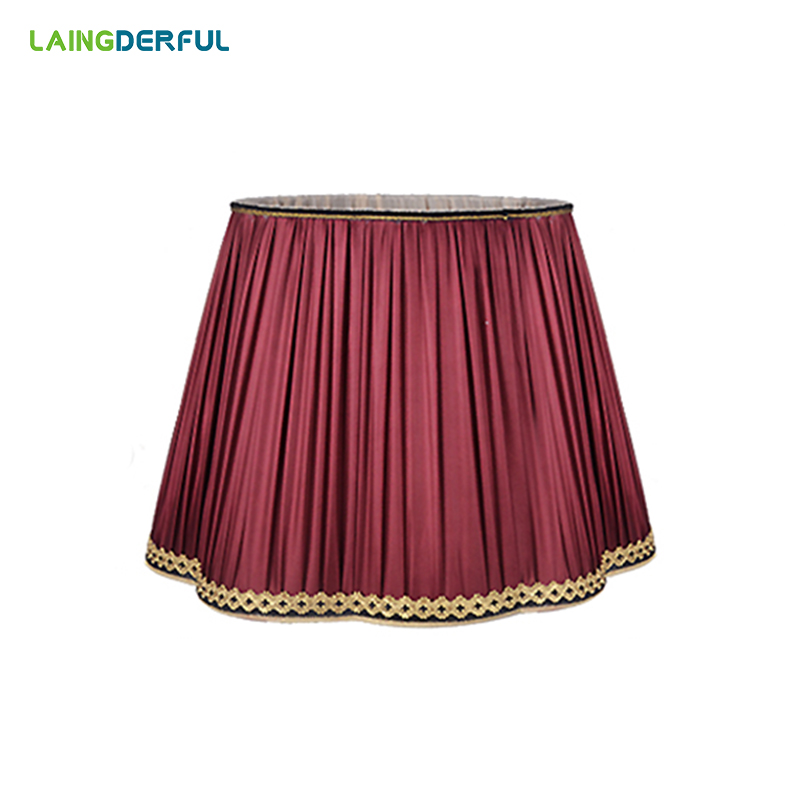 LAINGDERFUL Lamp Shades for Table Lamps American Lampshade for Bedside Lamp Floor Lamp European Cloth Light Cover
