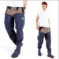 Man Women Fishing Pants Waders Blue PVC Material neoprene Breathable Rubber waterproof High Quality Footwear Leg Pants Boots