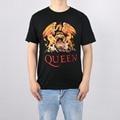 Música rock top100 rainha banda t-shirt masculino-manga curta nova chegada camisa Marca de Moda t para homens