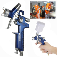 0 8mm 1 0mm HVLP Air Spray Gun Airbrush Kit Touch Up Paint Sprayer Gravity Feed