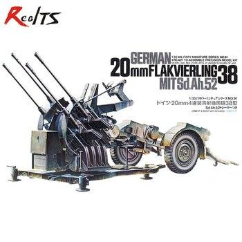 RealTS Tamiya 1/35 scale 35091 German 20mm Flakvierling 38 MitSd.Ah.52 Plastic Model Kit