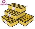 LOAAO Casa caixas De Armazenamento meias Sutiã Cueca Organizadores sacos de caixas de caixas De Armazenamento Dobrável Eco