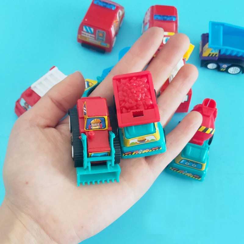 Puxar Para Trás do Automóvel Veículo de Engenharia Brinquedo Caminhão de Bombeiros Modelo de Carro Die-casting Brinquedos Para Crianças Carro de Brinquedo Carro Criança 6 conjunto pedaço TOY143