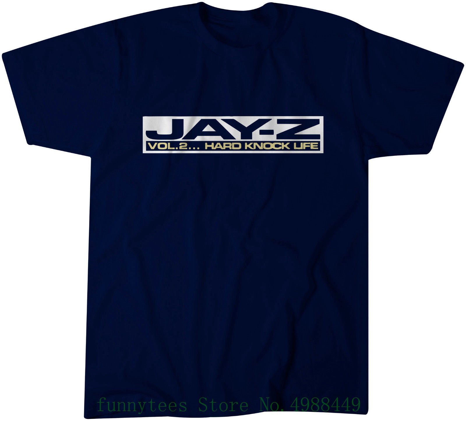 Jay - Z Hard Knock Life Promo T Shirt - Classic Hip - Hop - Roc - A - Fella Men's High Quality Tops Hipster Tees image