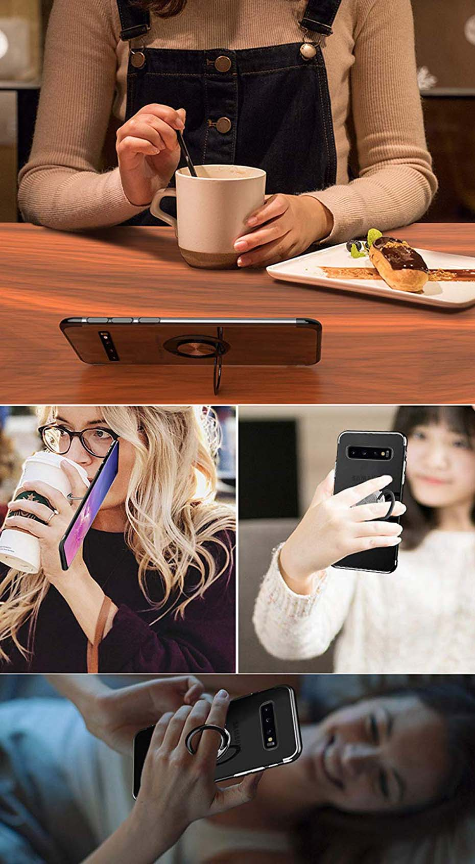 Transparent Magnetic Phone Case For Samsung Galaxy S10 Plus