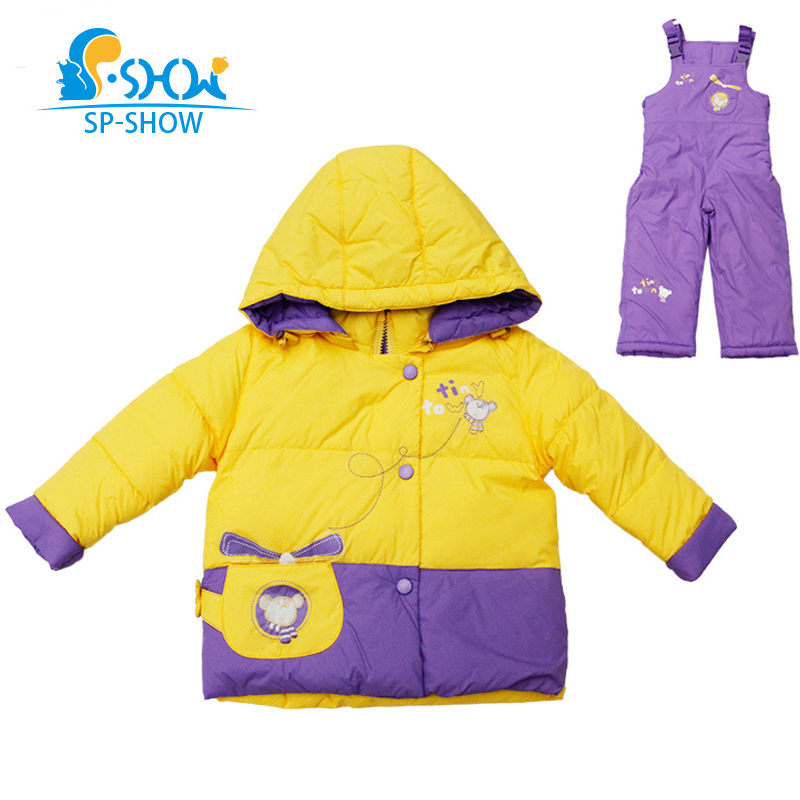 SP-SHOW Winter Children Outwear Hooded Boy And Girl Coats For 1-5 Age  Luxury Brand Two-Piece Suit Winter Jacket Down Coat 9114