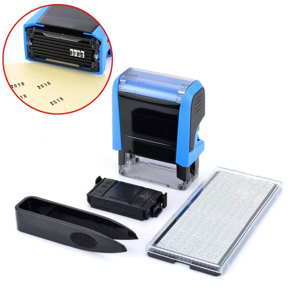 Rubber Stamp Kit Plastic Personalised Customised Self Inking Stamp for Business Address Name DIY Stamping Decor