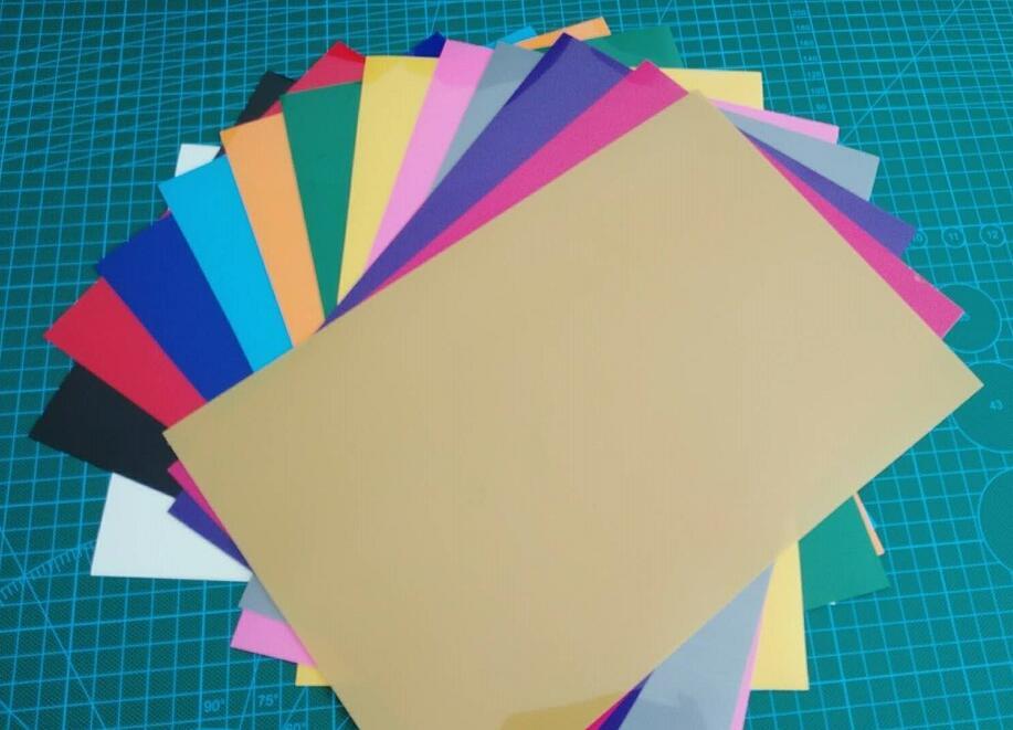 Free shipping 13 sheets/colors 20X30CM PVC Heat Transfer Vinyl Iron on vinyl Heat Press Machine Cutting Plotter HTV T-shirt DIY