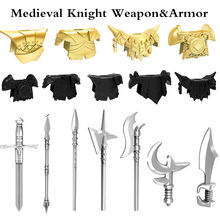DIY Toys 10pcs/lot Legoings Medieval Knights Rome Weapons Shield Handprint Helmet Sword Building Block Toys for Children Gift(China)