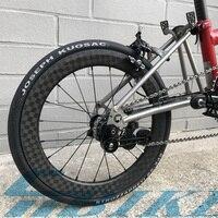Велосипед углерода Колеса Clincher обода для Brompton Super Light 800 г 16 38 мм Глубина складной велосипед 3 /12 К колесная 16/20 14/21 отверстие