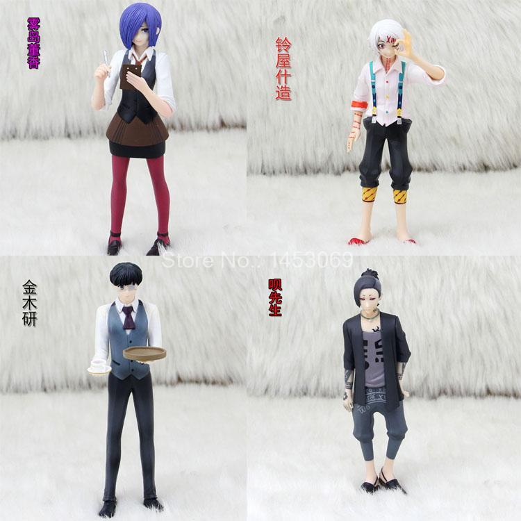 Anime Tokyo Ghoul JUZO SUZUYA / REI Uta Kaneki Ken Touka Kirishima PVC Action Figure Collectible Model Toy 15cm