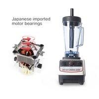 Сверхмощный коммерческий блендер смеситель, соковыжималка для фруктов и овощной миксер, Измельчитель льда, электрический кухонный комбайн