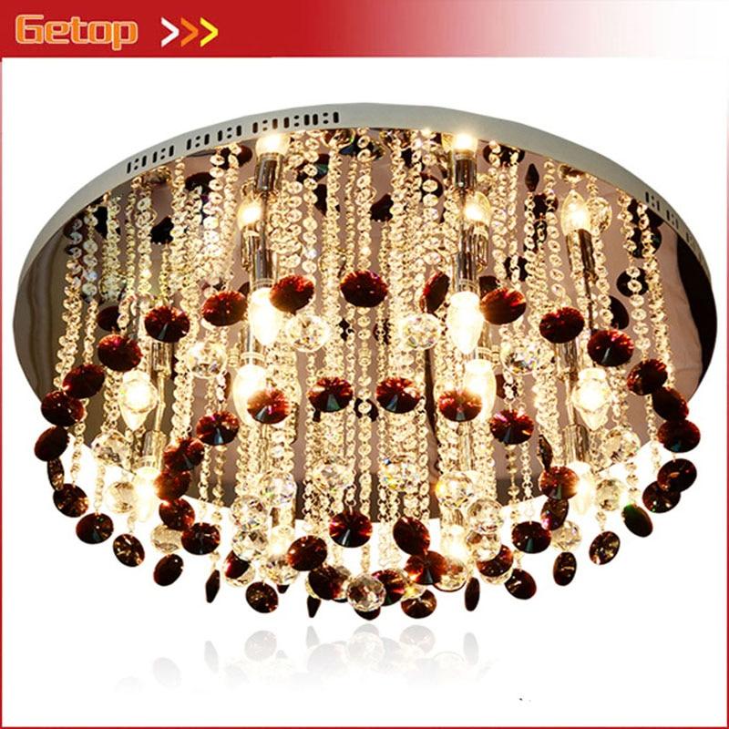 Zx Moderne Vertraglich Lila Kristall Kette Deckenleuchte Rundschreiben E14 Led Leuchtet Wohnzimmer Fernbedienung Lampe Versandkostenfrei