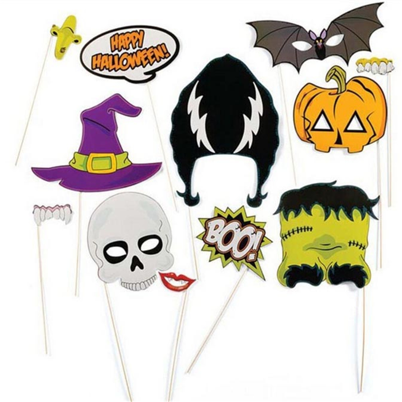 free shipping 12pcsset photo booth props photobooth for halloween decoration party event party