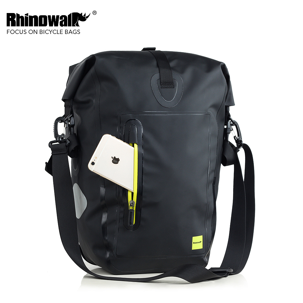 RHINOWALK 25L Waterproof Cycling Bike Bags MTB Bike Rear Rack Bag Full Multifunction Road Bicycle Pannier Rear Seat Trunk Bag rockbros mtb road bike bag high capacity waterproof bicycle bag cycling rear seat saddle bag bike accessories bolsa bicicleta