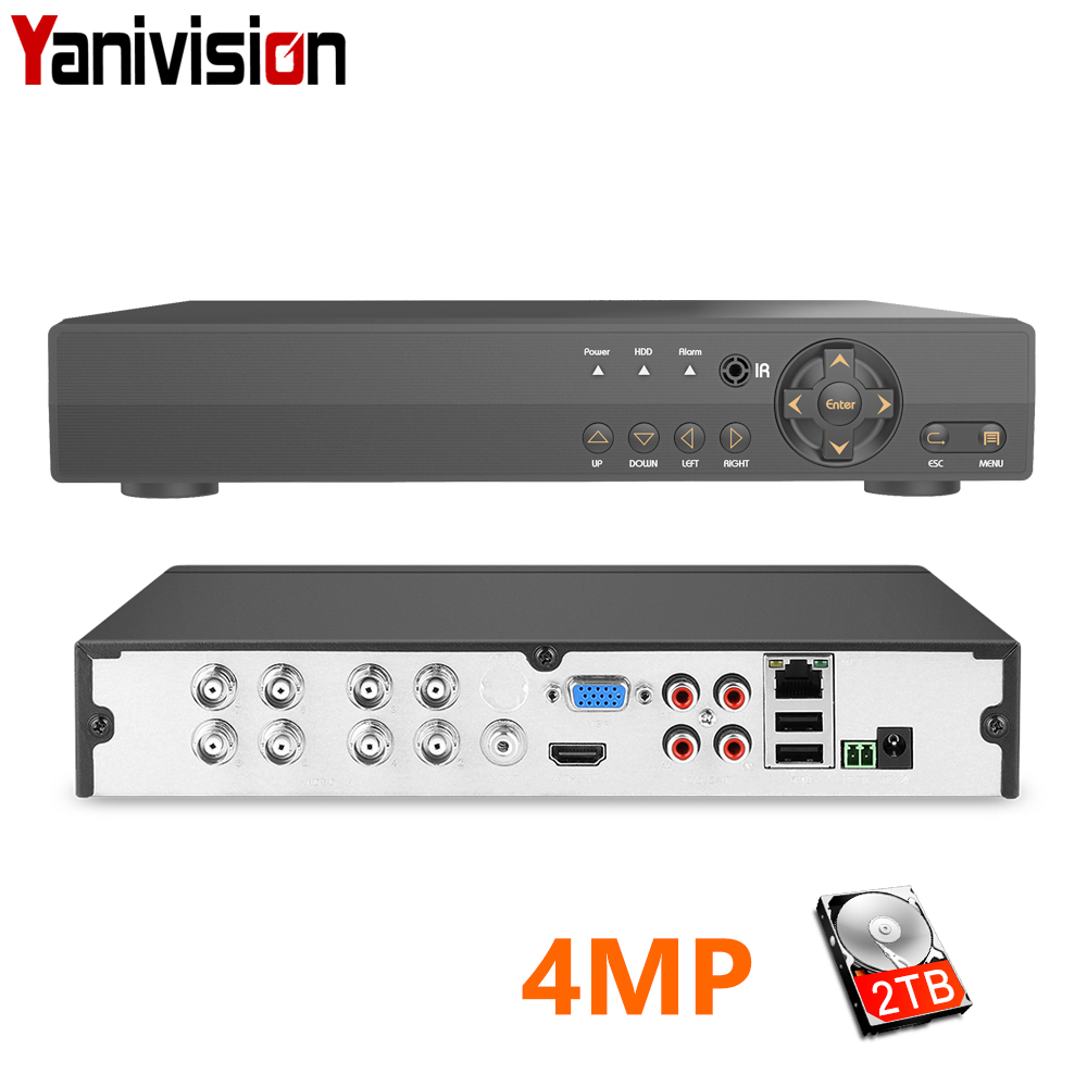 H.264 Security 8CH CCTV AHD DVR 4MP For AHD CVI TVI Analog IP Camera 4.0MP Hybrid Video Recorder 2K Video OutputH.264 Security 8CH CCTV AHD DVR 4MP For AHD CVI TVI Analog IP Camera 4.0MP Hybrid Video Recorder 2K Video Output