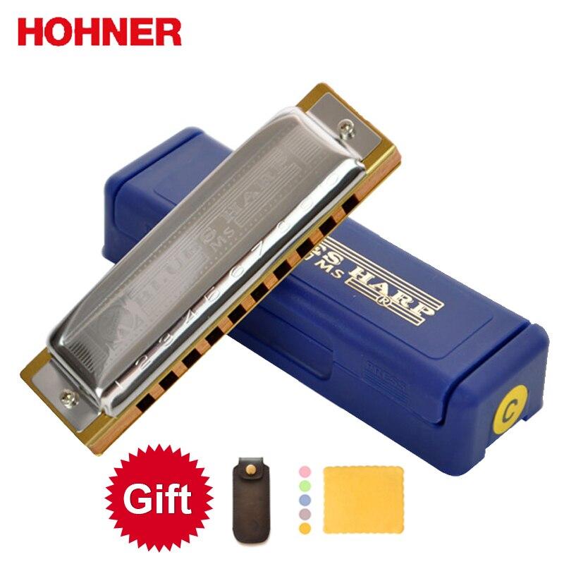 Hohner Blues Harp BH20 10 Hole Harmonica Bules Diatonic Harp, Wooden Body Key Of C,D,E,F,G,A
