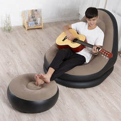 Inflatable Sofa One Seat with Inflator Pump Set Inflatable Chair Living Room Outdoor Garden Furniture Home Studio Gift