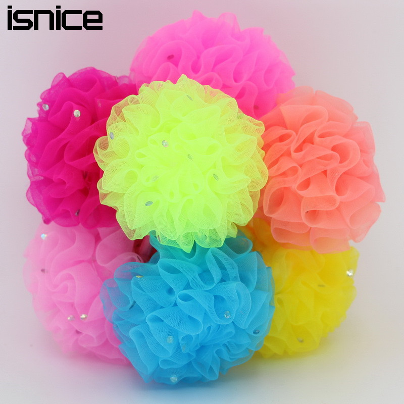 isnice 12pcs fabric flower hair accessories girl Chiffon flower headband elastic headress flores tiara tie kids hair rubber band halloween party zombie skull skeleton hand bone claw hairpin punk hair clip for women girl hair accessories headwear 1 pcs