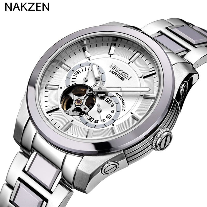 Nakzen Stainless Steel Automatic Mechanical Luminous