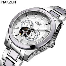 NAKZEN stainless steel automatic mechanical luminous sapphire watch brand luxury fashion classic business male watch