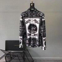 AH02898 модные для мужчин's рубашки для мальчиков 2019 взлетно посадочной полосы Роскошные известный бренд Европейский дизайн вечерние стиль